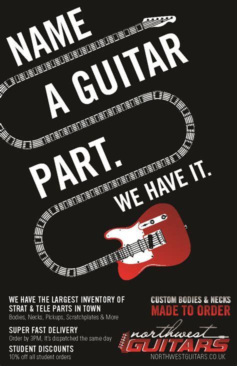 poster design exles images masculine bold build poster design for northwest guitars