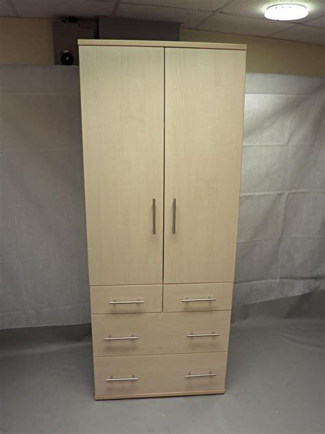 Wardrobe Supplies by Canadian Maple Wooden Wardrobe With Heavy Duty Drawers And