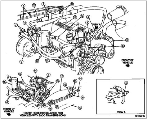 ford f 150 heating system diagram ford auto parts