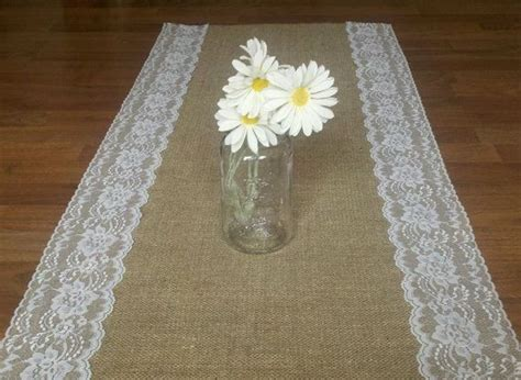 burlap table runners with lace for sale discover and save creative ideas