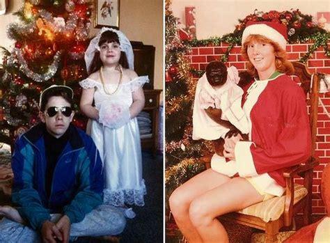 ugliest weirdest  downright  unsettling christmas family portraits   world