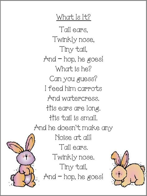 The Rhyming Rabbit bunny poem what is bunnies and poem