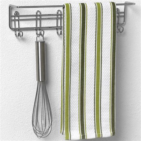 Dish Towel Rack by Wall Mount Kitchen Towel Bar In Cabinet Door Organizers
