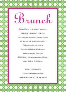 birthday brunch invitation wording birthday brunch invitations wblqual