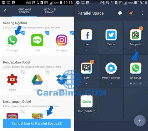 cara membuat 2 akun instagram dalam satu hp cara install atau membuka 2 akun whatsapp dalam 1 hp android