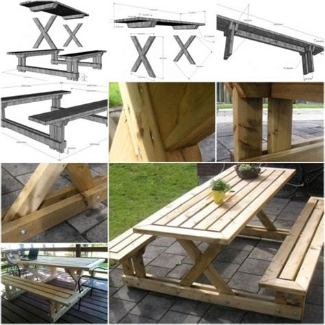 how to make a garden table and bench how to make garden bench and table step by step diy tutorial instructions how to