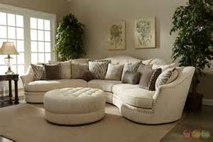 Coaster Furniture Bedroom Sets amanda transitional curved ivory sectional sofa w loose