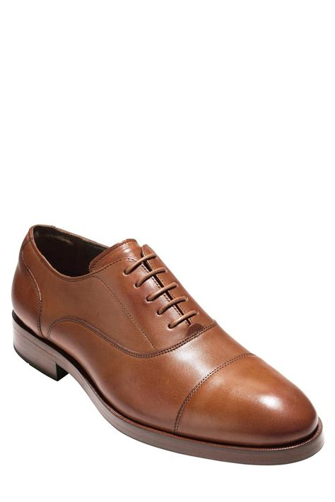 cole haan harrison grand cap toe oxford in brown for