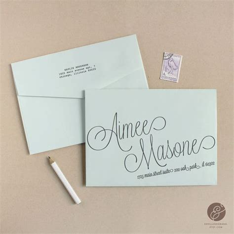 Wedding Address Template instant script diy envelope template