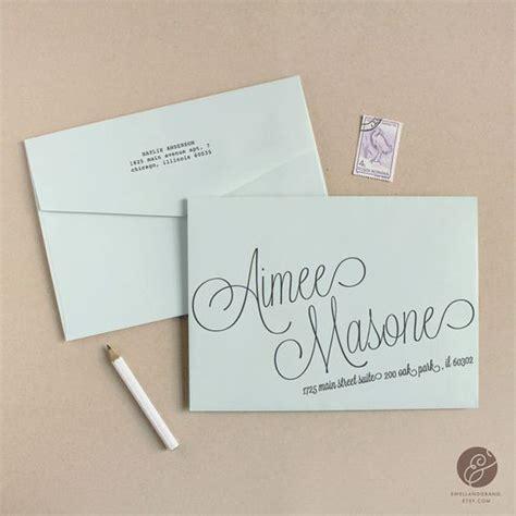 wedding address template instant script diy envelope template