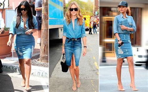 imagenes modelos de falda jean polleras de jean am jeans