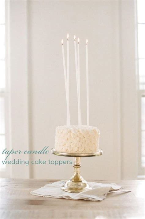 Wedding Cake Candle by Taper Candle Wedding Cake Toppers Candle Cake Topper