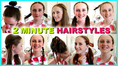 10 easy 2 minute hairstyles and easy hairstyles for school