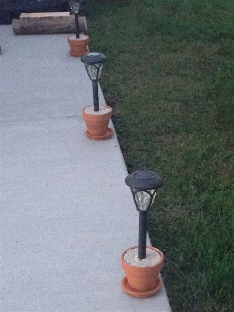 solar lights in flower pots 17 best ideas about concrete bags on bag of