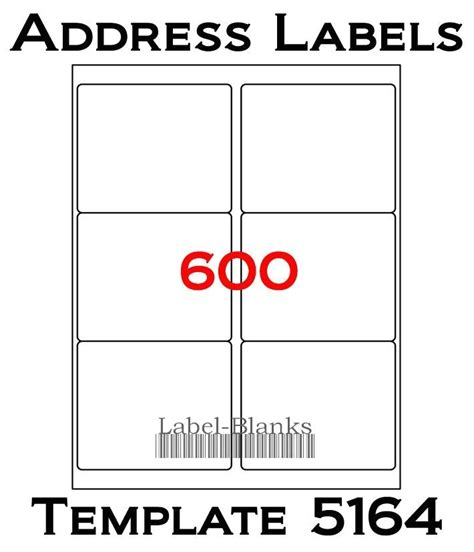 avery shipping label template 5164 avery shipping label template 5164 4 x3 1 3 laser ink jet