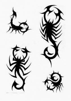 Diseño Tatuaje tribal signo Escorpión 06 - IMÁGENES del