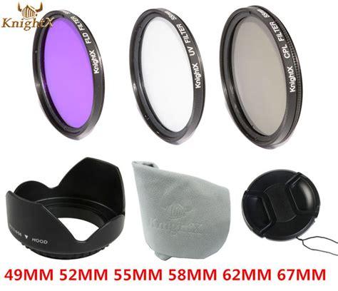 Murah Uv Filter Lens Lensa 52mm 52 Mm Cap Pelindung Tutup Lensa מוצר knightx 49mm 58mm 67mm 55mm uv filter 52mm fld cpl lens set lens for canon eos 600d