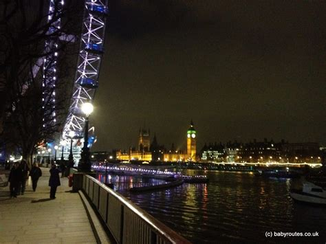 london thames walk london eye and big ben at night from the thames path on