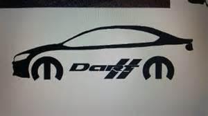 Dodge Dart Stickers Dodge Dart With Mopar Logo Text Vinyl Sticker Decal
