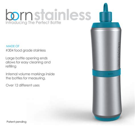 born water bottle the perfect bottle modular stainless steel bottle by