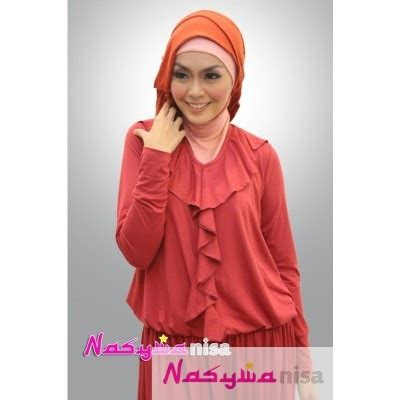 Jelita Dusty Ak Pakaian Dress Wanita Warna Dusty Pink 8ugb model baju muslim terbaru queeny merah dusty baju muslim models and muslim