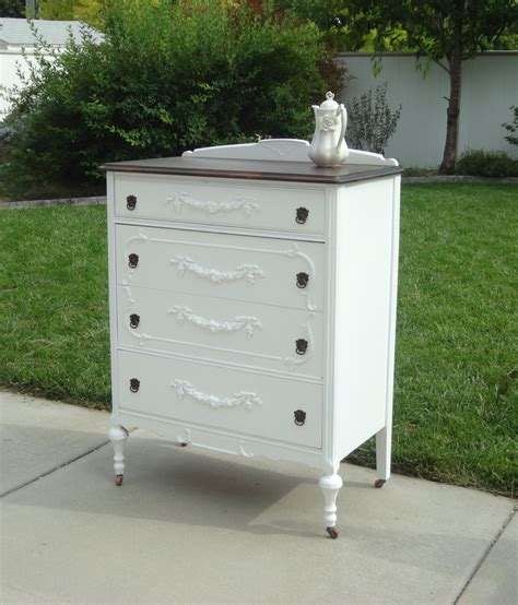 shabby chic dresser white antique dresser shabby chic white and by frenchgardentreasure
