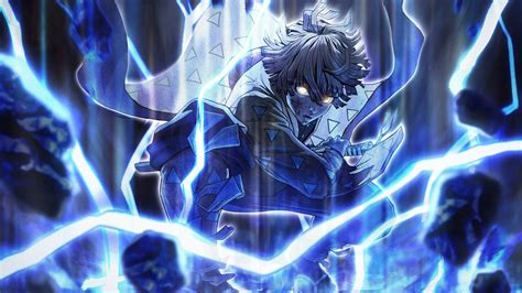 demon slayer zenitsu agatsuma  blue lightning
