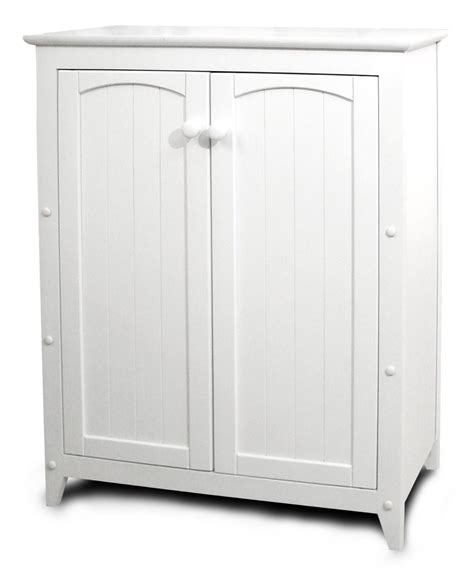 Small Wooden Cabinet With Doors Small White Storage Cabinet With Wooden Doors Decofurnish