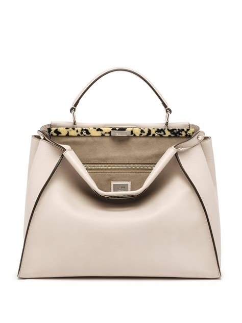 Fendis Fendi To You Large Satchel by Fendi Peekaboo Large Tortoise Accented Leather Satchel In