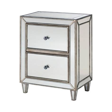 small mirrored accent table 090 458 hammary furniture hidden treasures small mirrored