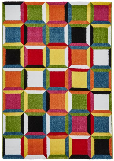 bright rugs cheap vibrant modern rug bright multi coloured floor mat home centre ebay