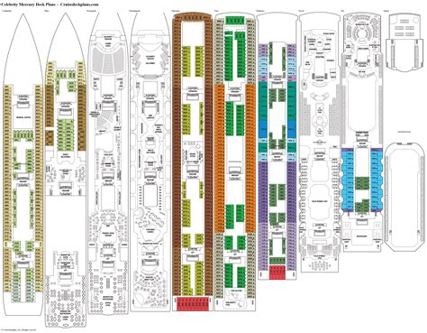 cruise ship floor plan celebrity mercury deck plans cabin diagrams pictures