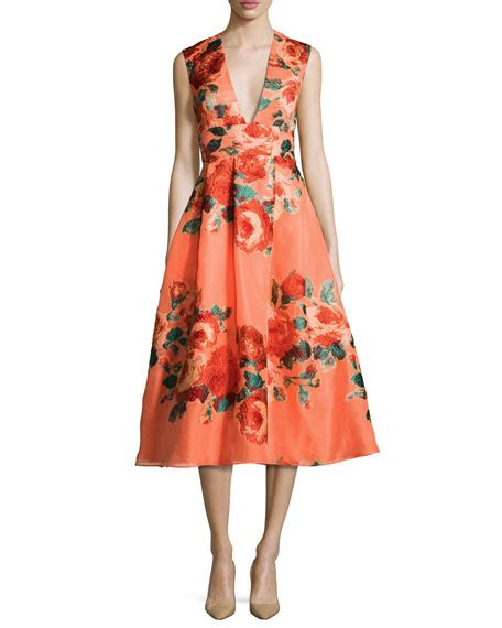 V Neck Sleeveless Knit Midi Dress floral sleeveless v neck midi dress salmon