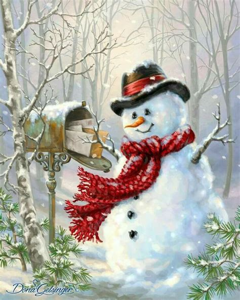 pin  yonnie smith  illustrations vintage cards  pictures christmas paintings
