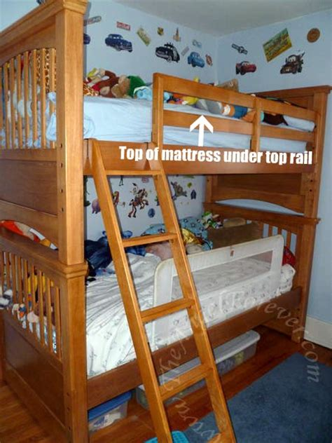bunk beds top and bottom bunk beds with rails on top and bottom my