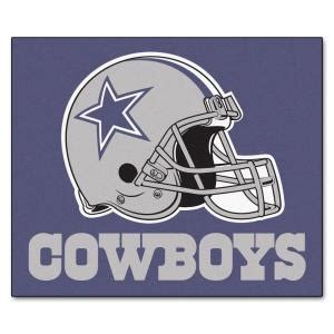 fanmats dallas cowboys 5 ft x 6 ft tailgater rug 5728 the home depot