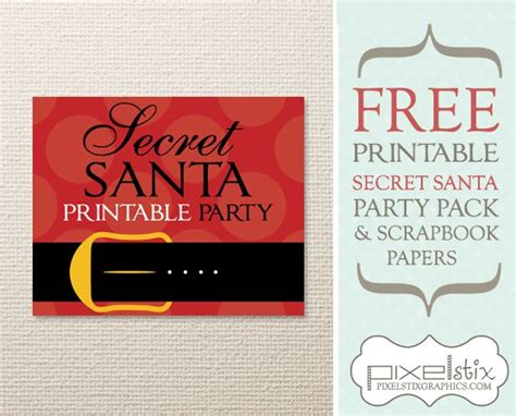 secret card template free printable secret santa pack including