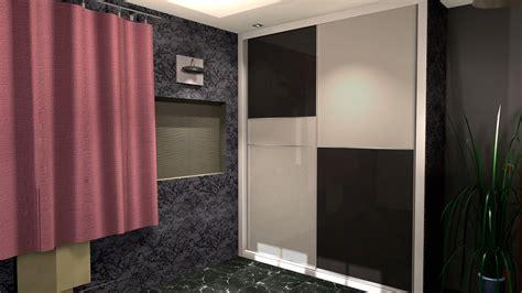 armario negro armario empotrado a medida vidrio negro y blanco con