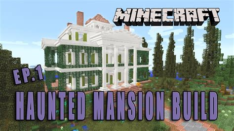 how to make a haunted house in minecraft minecraft how to make a haunted mansion halloween build part 1 youtube
