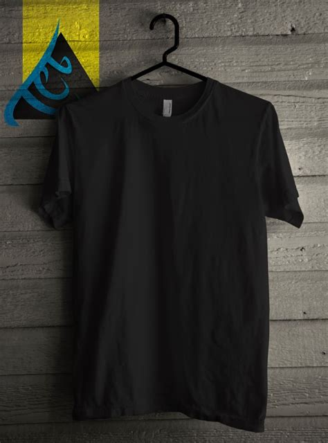 Kaos Baju T Shirt Oblong Black template tshirt polos photosop shop sip