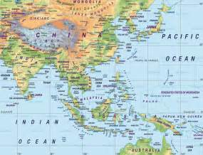 South East Asia Physical Map by Economic Zones Southeast Asia Map