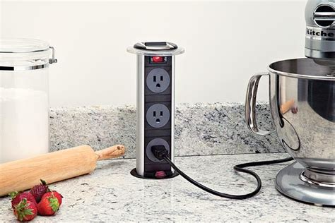 kitchen island power strip hidden power outlet