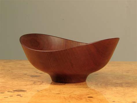 large decorative biomorphic teak bowl by finn juhl