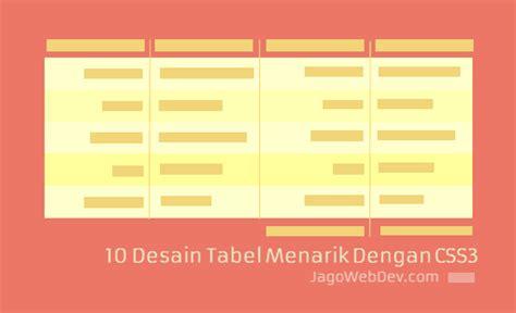 desain layout dengan css 10 ide desain tabel menarik dengan css 3 fresh design