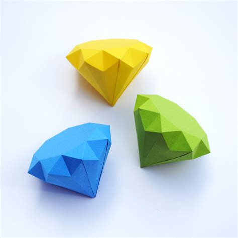 3d paper diamonds minieco