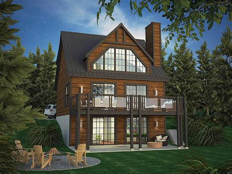 vacation home plans vacation home plan with rear facing views 90297pd architectural designs house plans