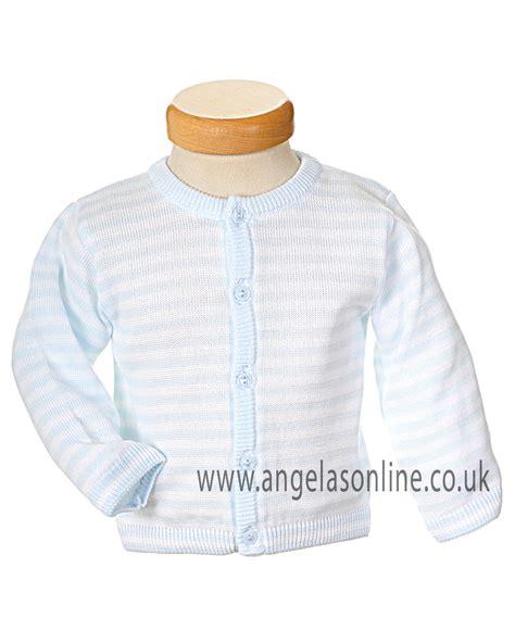 Sweater Knit Babyteri White Stripe pex rufus baby boys pale blue white striped cardigan b5219