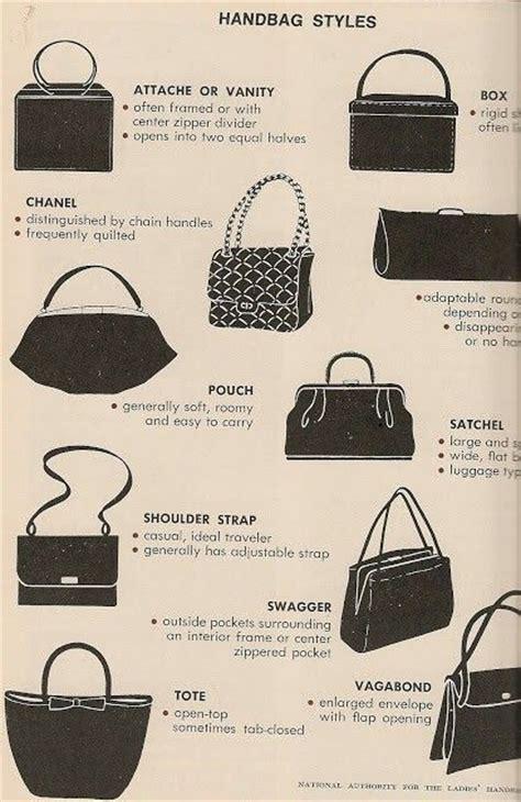 bag purse style vintage purse styles chart coisas para o meu mural