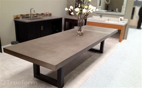 Custom Kitchen Tables Custom Concrete Kitchen Dining Tables Trueform