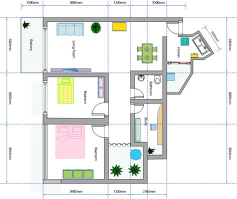 One Bedroom Floor Plan by Make Your Dream Home Blueprints